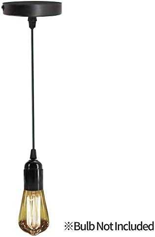 Pendant Lighting Industrial Hanging Lights Semi Flush Mount Ceiling Light Hanging Light Fixture Cord E26 Socket.