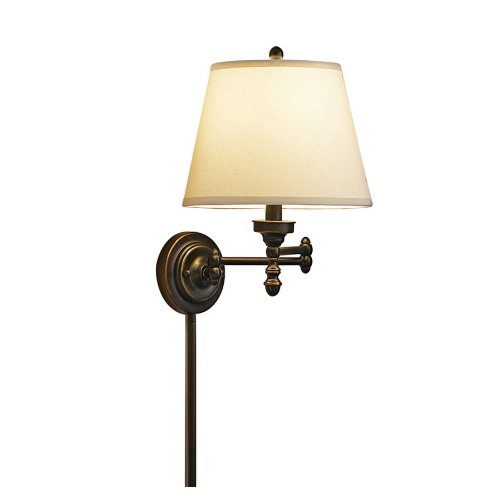 allen + roth Bronze Traditional Arm Wall Sconce 37260