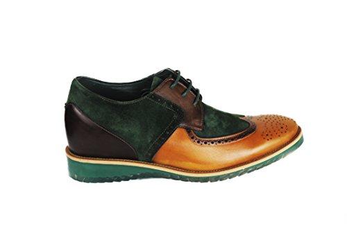 Pelle di Aumentato di Verde 100 Interno Stile Verde Pelle Pelle cm Casual Scarpe con qualità Colore in Realizzata con Pelle 7 Zerimar Alta nSqHPfXf