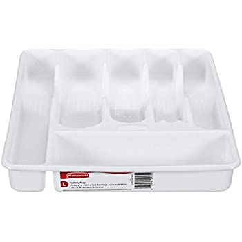 Amazon.com - Rubbermaid Cutlery Tray, Large, White