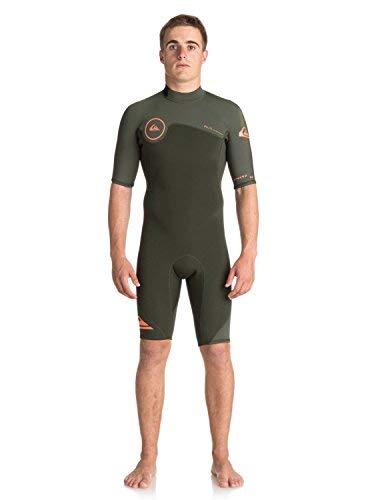 Quiksilver Mens 2/2Mm Syncro Series - Short Sleeve Back Zip Flt Springsuit for Men Short Sleeve Back Zip Flt Springsuit