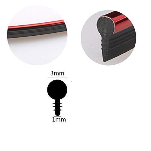 HugeAuto con strumento nastro adesivo decorativo universale per interni auto striscia rossa in ABS 3D 10 m