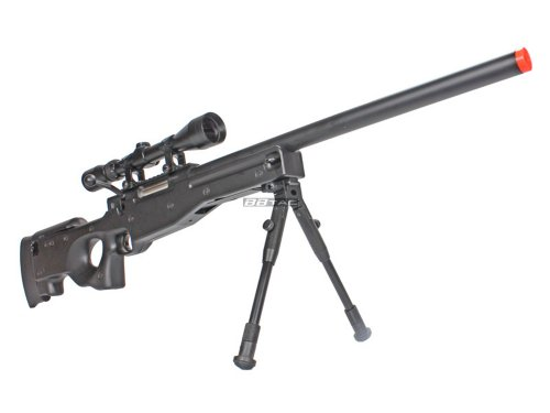 BBTac BT59 Airsoft Sniper Rifle Bolt Action Type 96 Airsoft Gun with 3X Rifle Scope and Aluminum Bipod by BBTac