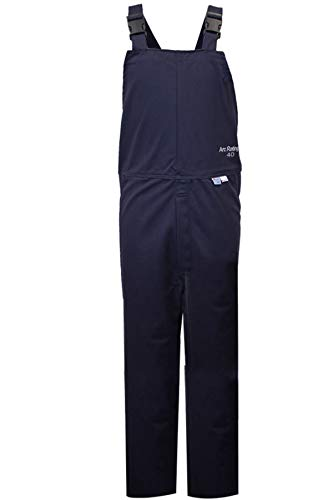 National Safety Apparel C45UQUQ40LG32 ArcGuard HRC 4 Arc Flash Bib Overall, Large, Navy