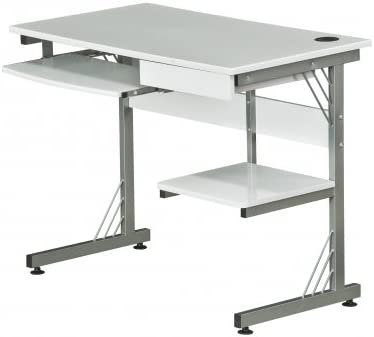 hjh OFFICE 673994 WORK - Escritorio / mesa de ordenador blanco ...