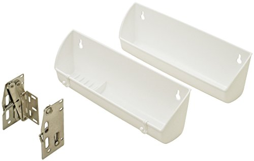 Sink Tilt-out Tray Set, with hinges, plastic, white, 14