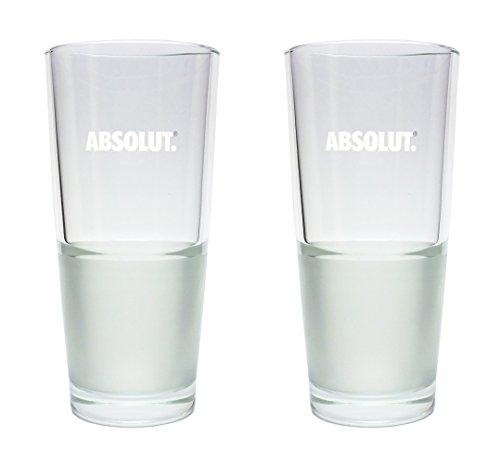 2 Absolut Vodka Longdrinkgläser 2cl/4cl - 2er Set