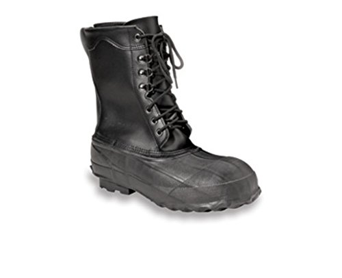 Honeywell HONA521-13 Servus by Size 13 Servus Black Insulated Leather and Rubber Safety Pac Boots with Steel Toe, Plastic, 1