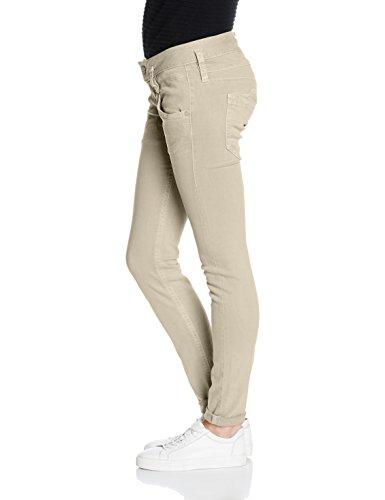 Herrlicher Pitch Stretch, Pantalones para Mujer Beige (Desert 98)
