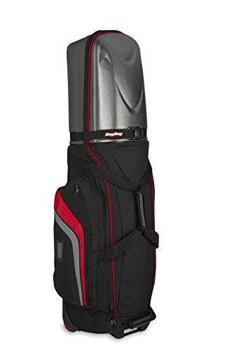Bag Boy Golf T-10 Hard Top Travel Cover (Black/Red/Charcoal, )