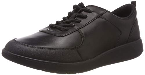 CLARKS Boys' Scape Street Y Brogues, (Black Leather-), 3.5 UK (Clark Kids Shoes)