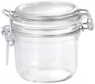 200 ml Bormioli Rosso Fido Vaso Con Coperchio In Vetro