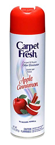 Carpet Fresh 10.5 oz No-Vacuum Apple Cinnamon Fragrance (Pack of 6)