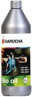 Aceite de cadena orgánico GARDENA, 1 l: aceite de motosierra para lubricar la motosierra, puramente vegetal, biodegradable (6006-20)