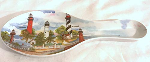 - Cameron Designs New Florida Lighthouses Melamine Spoon Rest 9 .5