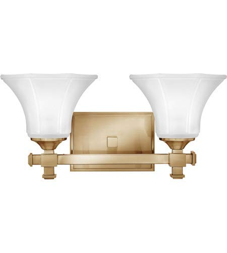 Bathroom Vanity 2 Light Fixtures with Brushed Caramel Finish Metal Material Medium 16