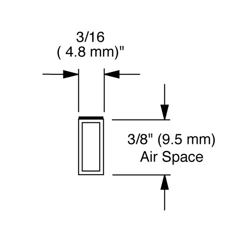 EconoSpace, Art and Glass Separator, 3/8'' airspace, 60 ft bundle - WHITE by EconoSpace