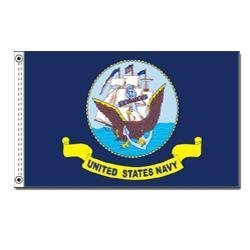US Navy Flag 3ft x 5ft Heavy Duty Spun Polyester by Ruffin Flag