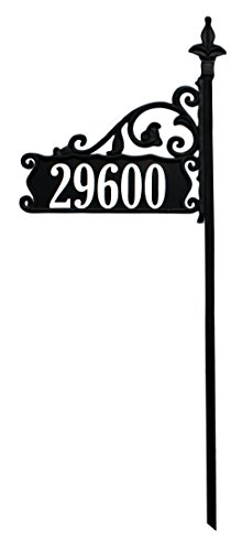 "Our Top Rated 48"" Boardwalk Reflective Nightvision Address Sign Customized With Best Reflective on Both Sides"