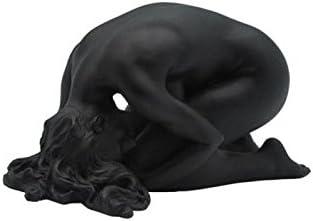 5.75 Inch Female Nude Figure Kneels with Head Left Display Decor