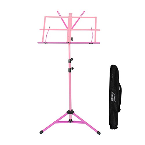 Audio 2000s 60'' Height Portable Sheet Music Stand Pink/Magenta AST4448 by Audio 2000S