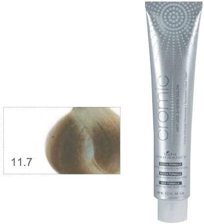 Light Irridiance Cromic 11.7 Superaclarante rubio platino irisado 100mL - Tinte crema colorante permanente para el cabello | Anti-age System Color | ...