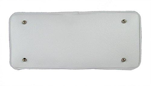 Alta Qualità In Vera Made Pelle Borsa Bianco Italy Vitello fAvSxn1