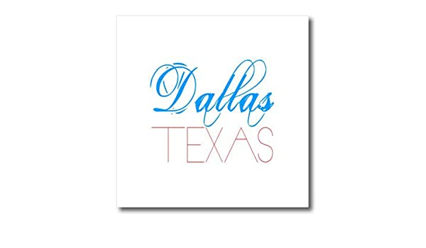 Decorative Dallas T-Shirts Texas Patriotic Blue red Text on White 3dRose Alexis Design American Cities
