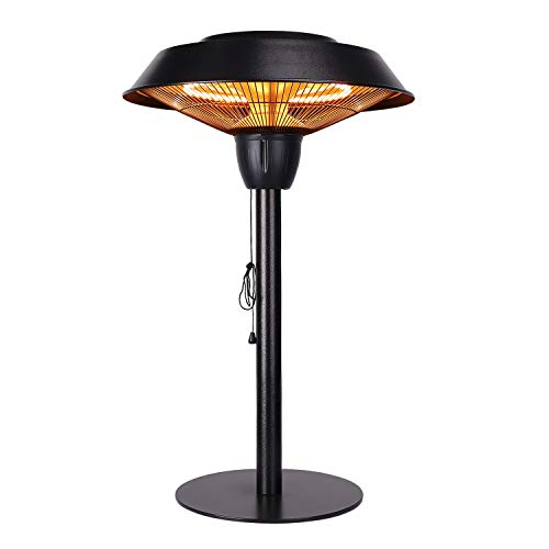 Star Patio Outdoor Freestanding Electric Patio Heater, Tabletop Heater, Infrared Heater, Hammered Bronze Finished, Portable Heater Suitable as a Balcony Heater, ZHQ1566-CT