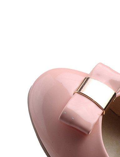 Ggx tacones tacón Robusto 5 Vestido Uk8 Punta Cn43 Y Pink cuero oficina 5 us9 Redonda Eu42 Mujer 5 Pump Zapatos tacones us10 Black Trabajo Eu41 Cn42 5 10 Patentado Casual negro Básico 8 De Uk7 rtvrw
