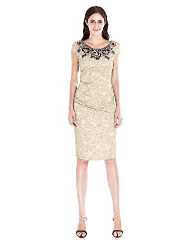 khaki lace dress - 4