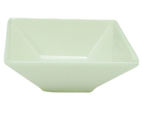 [(Set of 6) Amatahouse Square Soy Sauce Dish Sushi Wasabi Plates Soy Sauce Dipping Bowls Barbecue Accessories Porceline Jade Stone&Melamine, Cream 3 inch] (Sushi And Kikkoman Costume)