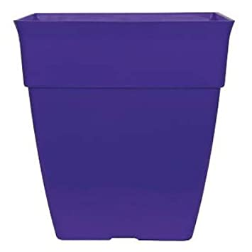 26.2L ROYAL PURPLE Large Plant Pots Planters SQUARE Tall Plastic Planter Pot  Outdoor Garden (
