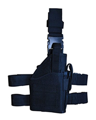 Ultimate Arms Gear Stealth Black Tactical Leg Holster with Web Straps, Right Handed, Fits Browning Hi-Power Pistols