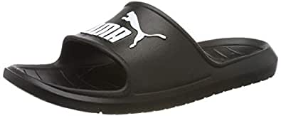 PUMA Men's Divecat V2 Slide Sandal, Puma Black-Puma White, 4 US