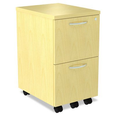 Alera SE521620MP SedinaAG Series Mobile File/File Pedestal, 15-3/8 x 20 x 26-5/8-Inch, Maple ()