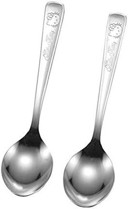 Kakusee Sanrio Hallo Kitty Tea Spoon /& Kleine Kuchengabel Gesamt 4pcs KTK-01 /& KTK-02 aus Japan