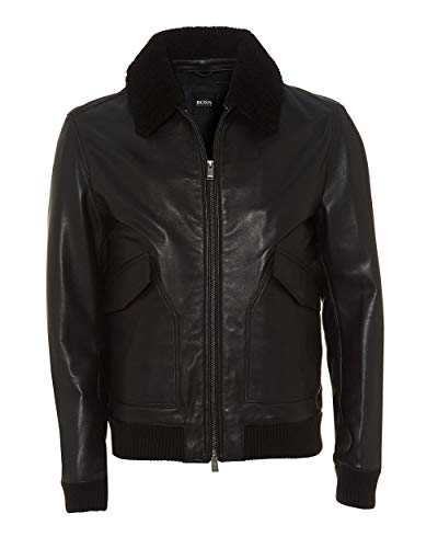 Black Mens Jacket Gordani Boss Leather Bomber YwqpX