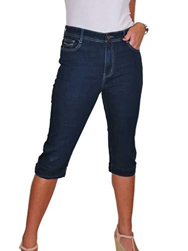 Jeans Capri Elástico 38 Denim Azul 48 Índigo Ice 1Sqwd1