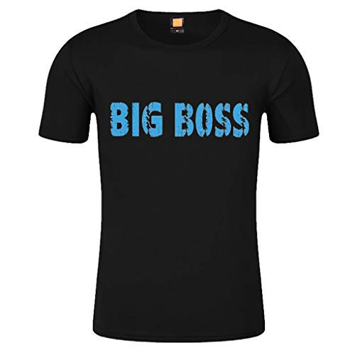 Price comparison product image Forthery Mens Shirts Slim Fit Short Sleeve Letter Printed Muscle Tee T-shirt Tops(Black, US Size XL = Tag 2XL)