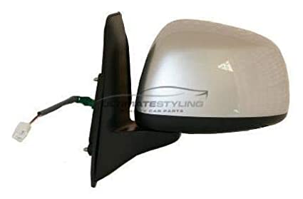 Ultimate Styling Replacement Electric None Power Folding Wing Door Mirror With Non-Heated Glass With Black Textured Mirror Cover Cap Side Of Product Passenger Side LH