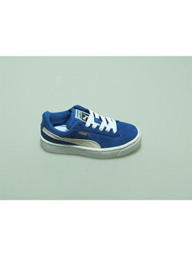 PUMA SUEDE KIDS scarpa sneaker tempo libero bambino bambina pelle blu 32