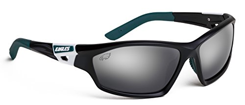 Officially Licensed NFL Sunglasses, Philadelphia Eagles, 3D Logo on Temple - 100% UVA, UVB & UVC - Eyewear 360 Sunglasses