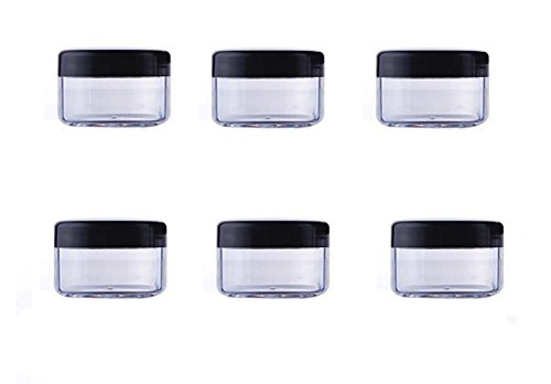 24PCS 10ML/15ML/20ML Clear Plastic Empty Refillable Sample Bottle Case Cosmetic Face Cream Vial Jar Pot Bottle Container Holder with Black Screw Cap Lid (15ml)