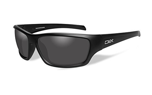 DVX by Wiley X -RAGE-SUN & SAFETY GLASSES- GREY LENSES/ MATTE BLACK - Dvx Sunglasses
