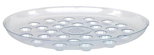 Clear 16-Inch Diameter CWP DS-1600 Heavy Gauge Footed Carpet Saver Saucer