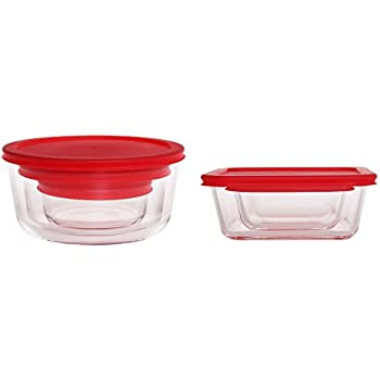 Amazoncom Glass Food Storage Containers Stackable Classic Sturdy
