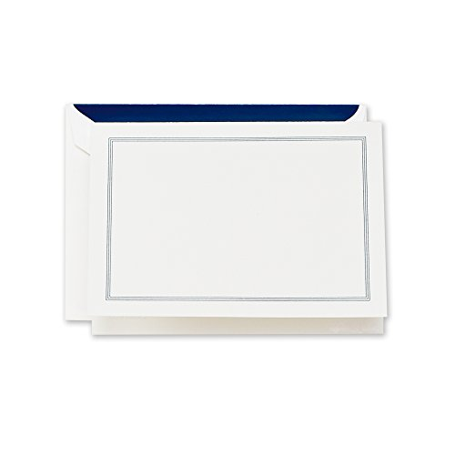 Crane & Co. Navy Triple Hairline Note (CF1415)