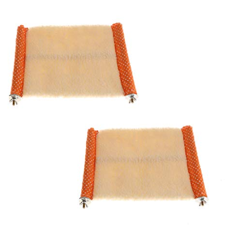Flameer 2 pcs Hamster Hammock Small Animal Supplies Bed Hammock Nester Random Color from Flameer