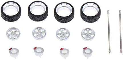 1/64スケール タイヤセット 合金ホイール ゴムタイヤ RCカーホイール RCトラック用全3サイズ - 8202